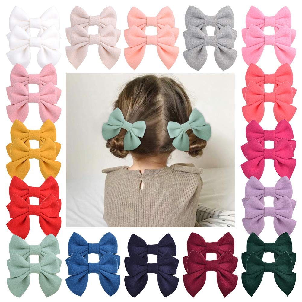 Large size with alligator hair clip or elastic headband. Girl/'s bow model Camelia