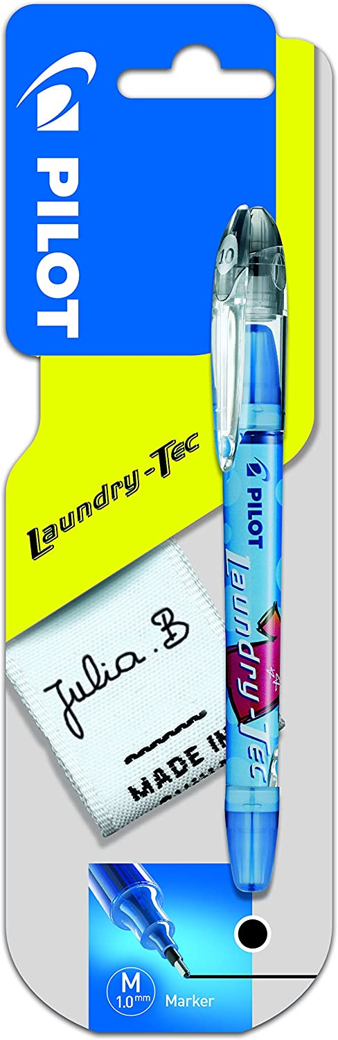 Pilot Laundry Tec Fabric Marker 1.0 mm Tip - Black, Single Pen