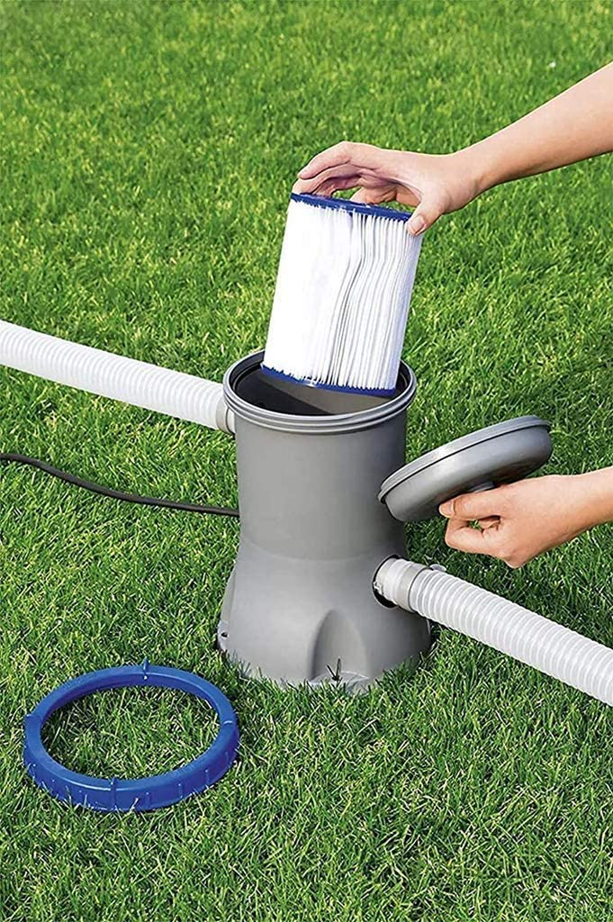 1 unidad filtro hinchable para piscina cartuchos filtrantes de papel. . elemento filtrante tipo 2 apto para el filtro de piscina para Bestway 58094 SK-LBB Filtro para piscina tipo 2