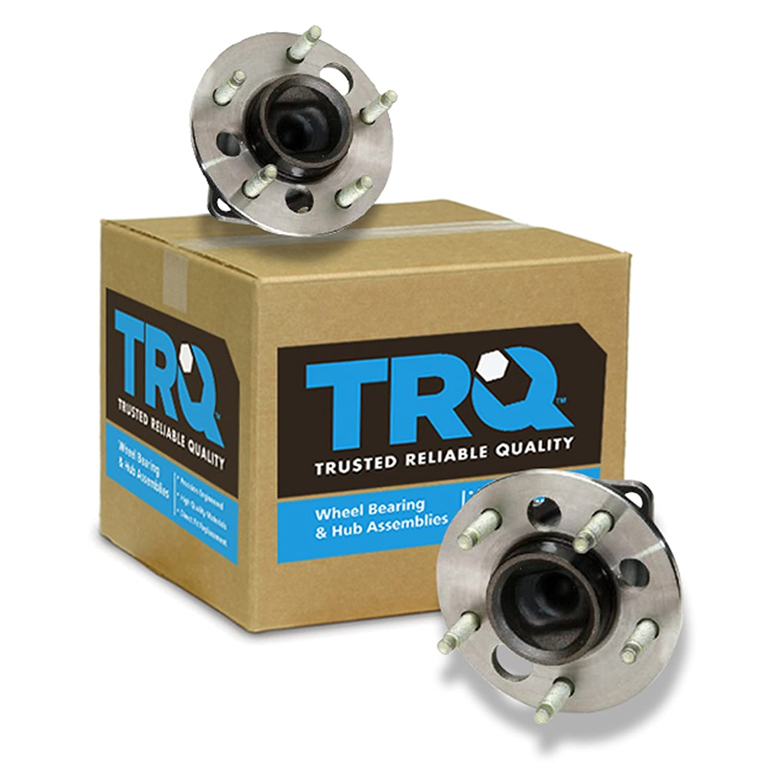 TRQ non-ABS Rear Wheel Hub & Bearing Pair Set for Chevy Pontiac Buick