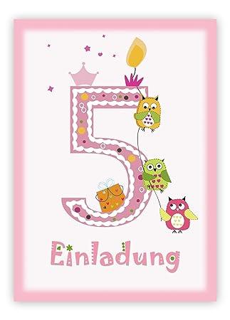 Mk Decor 12 Einladungskarten Kindergeburtstag Zum 5 Geburtstag In