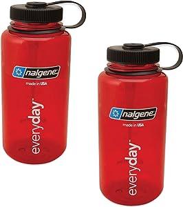 Nalgene 32oz Wide Mouth Everyday Water Bottle - Tritan - 2 Pack