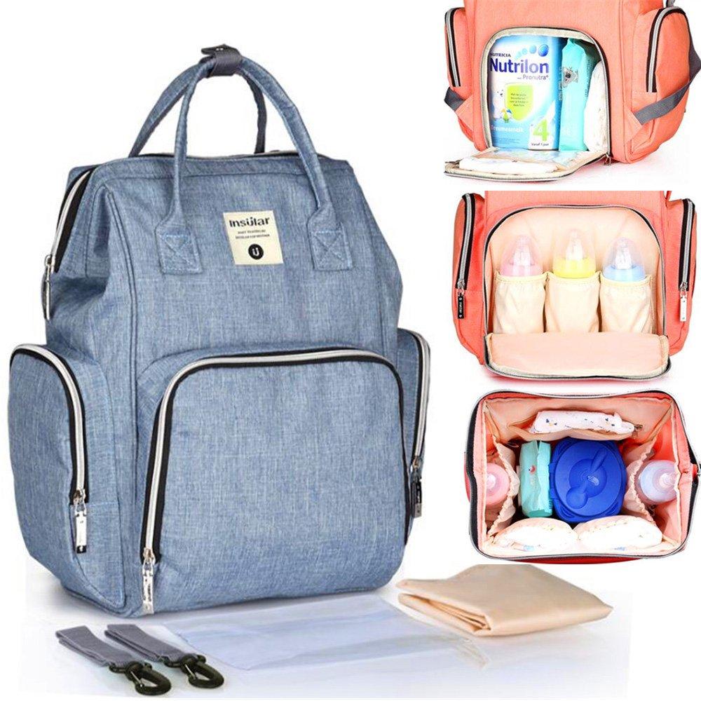 Diaper Bag Organizer Mommy Nappy Bag Designer Large Capacity Travel Maternity Backpack Baby Nursing Bag bolsa mochilas (Green) Insular