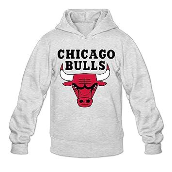DVPHQ Hombres Personalizados de Logo Chicago Bulls Sudadera con Capucha de Fresno: Amazon.es: Deportes y aire libre