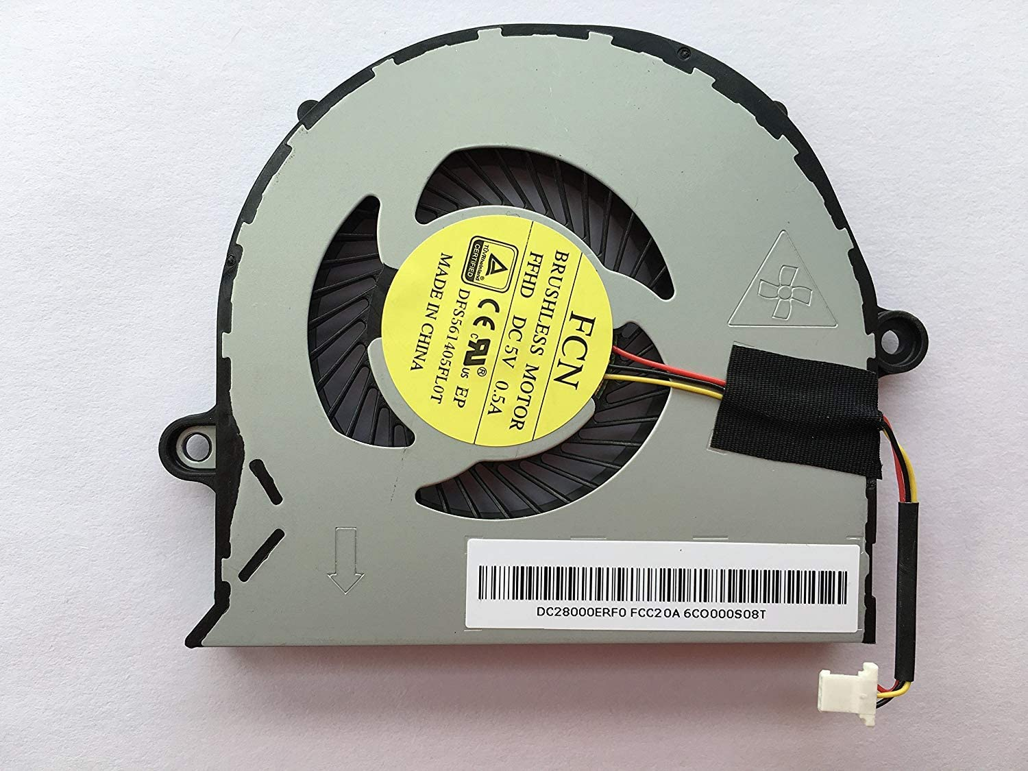 HK-Part Replacement Fan for Acer Aspire E5-571G E5-571 E5-531 E5-551 E5-551G E5-511 E5-511G E5-511P E5-521 E5-521G V3-572 V3-572G CPU Cooling Fan 3-Pin 3-Wire