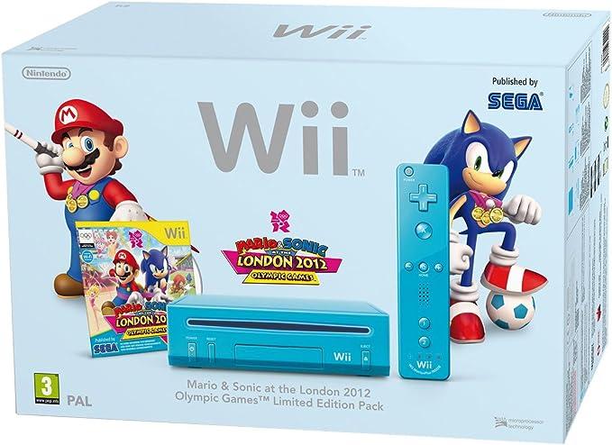 Nintendo Wii Hw Azul + Mario & Sonic: Amazon.es: Videojuegos