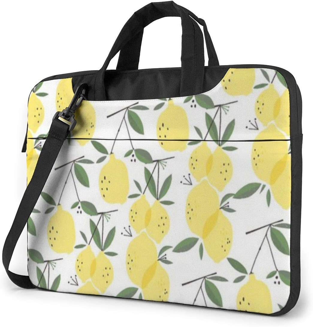 NEPower Laptop Tote Bag Yellow Lemon Portable Laptop Messenger Bag with Strap Fits 13-15.6in Notebook for Office