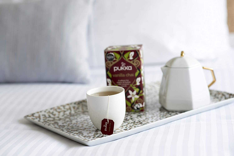 Pukka Vanilla Chai, Organic Herbal Tea With Cinnamon & Cardamom (6 Pack, 120 Tea Bags