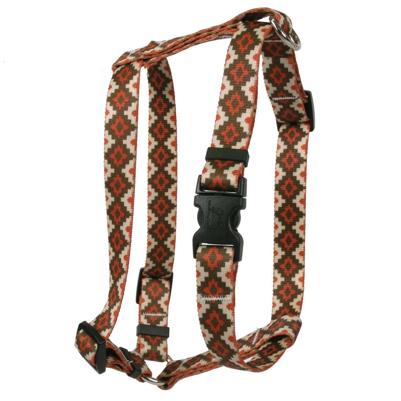 Yellow Dog Design Aztec Sand Roman Style H Dog Harness Fits Chest Circumference of 28 to 36'', X-Large/1'' Wide