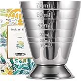 Homestia カクテル メジャーカップ ジガーカップ 測定 目盛り付き ステンレス シルバー