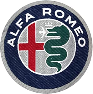Alfa Romeo 21823 Official Logo Sticker Patch Diam. 75 mm