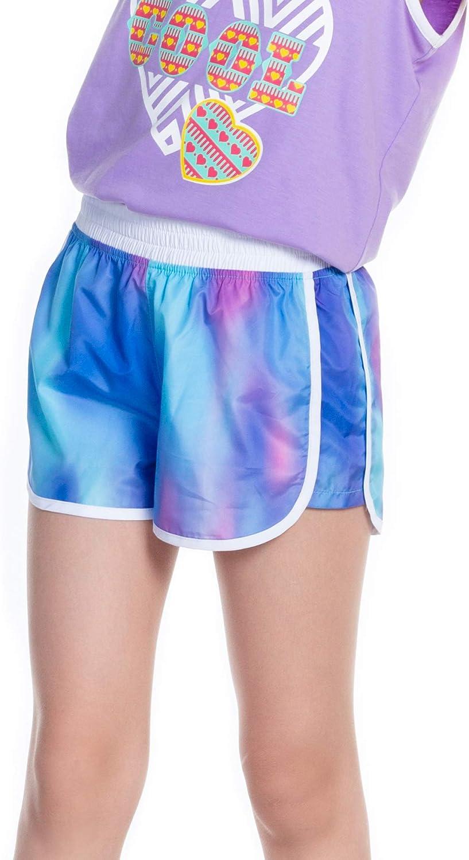 M.D.K Girls Elastic Waistband Soft Stretch Athletic Casual Sport Shorts