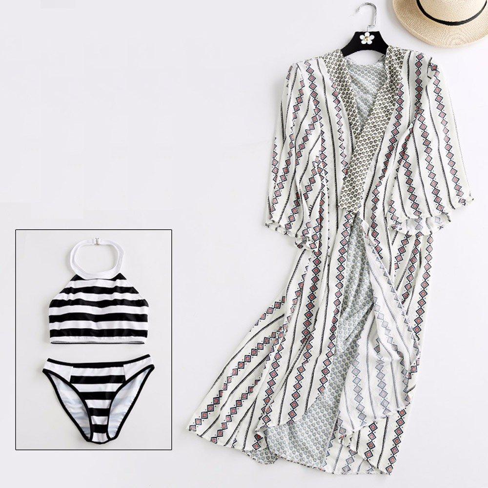 YUPE Hot spring Badeanzug Rock bikini vier Stück Hohe Taille Hot spring Badeanzug Frau/Frauen