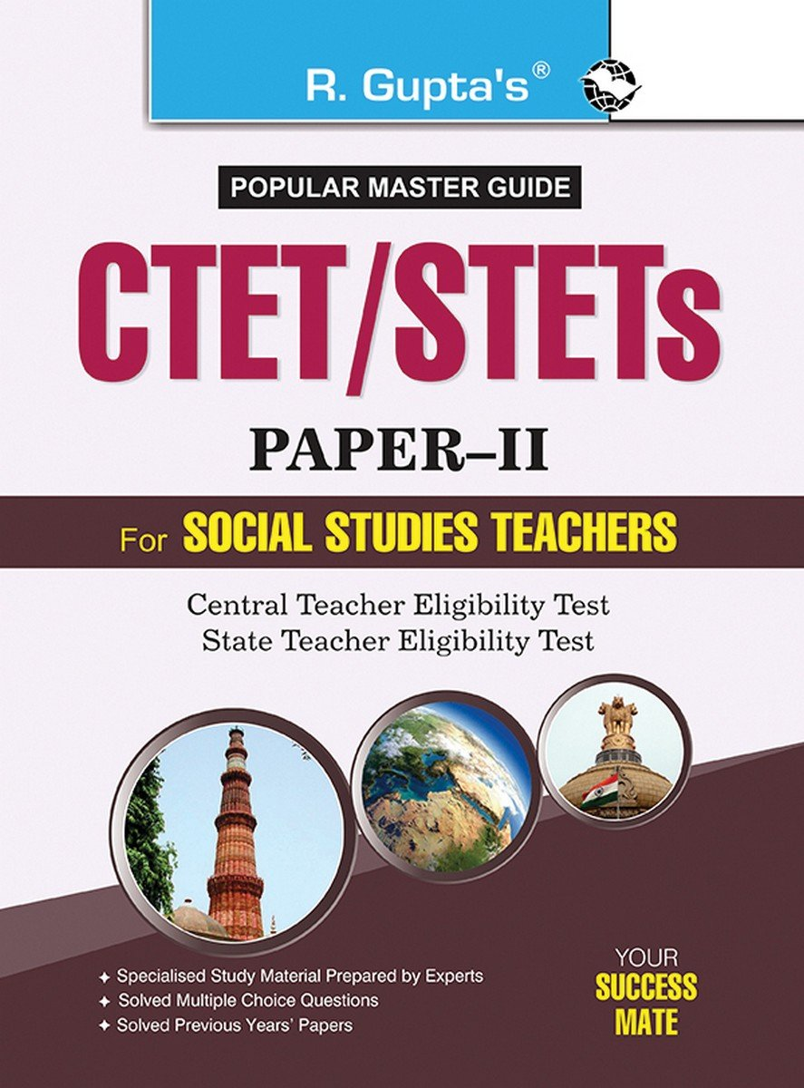 CTET/STETs: Paper-II (Social Studies) Guide: RPH Editorial Board:  9789350121641: Amazon.com: Books