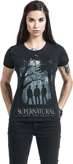 T-Shirt Cid Supernatural Group Outline Femme