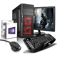 """Komplett PC-Paket Gaming/Multimedia Computer mit 3 Jahren Garantie!   Quad-Core! AMD A10-7700K 4 x 3.8 GHz   16GB   2TB   USB3   WiFi   DVD±RW   Win10 Prof 64   24"""" LED TFT   Tastatur+Maus #5711"""