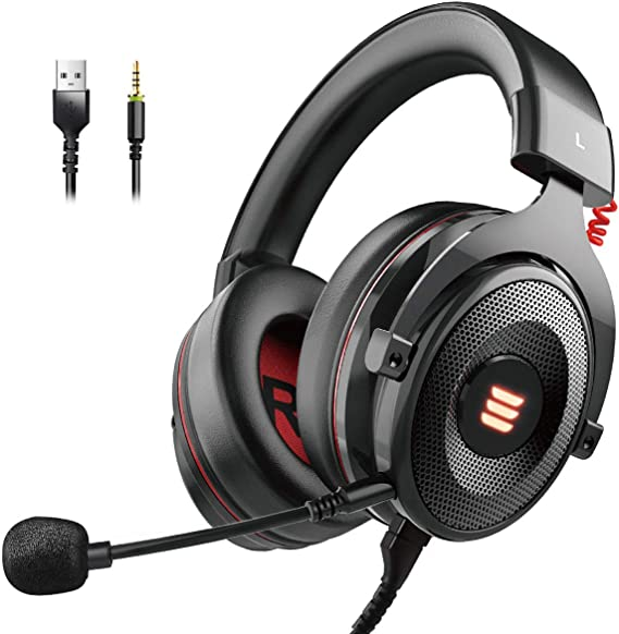 EKSA E900 USB Gaming Headset-Xbox One Headset with 7.1 Surround Sound