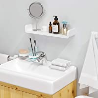 Laigoo Floating Shelf Wall Mounted Non-Drilling, U Adhesive Bathroom Organizer Display Picture Ledge Shelf for Home…