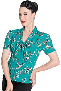 4dd4f8a8783064 Hell Bunny Birdy 40er 50er Jahre Pin Up Vintage Stil Kleid: Amazon ...