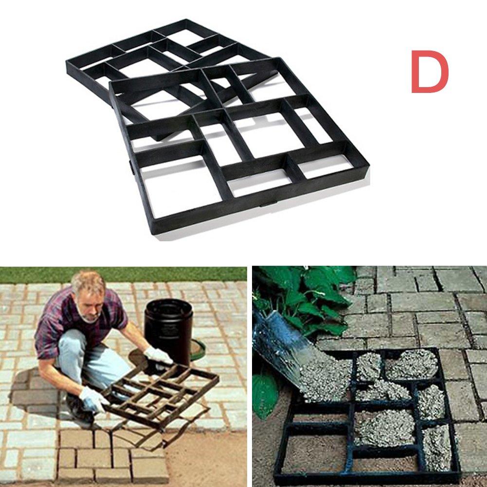 Molde para hacer caminos, hormigón, jardín, diseño de piedra de cemento, molde para hacer pavimentos, pavimentos, pavimentos, patios, pasarelas, etc.