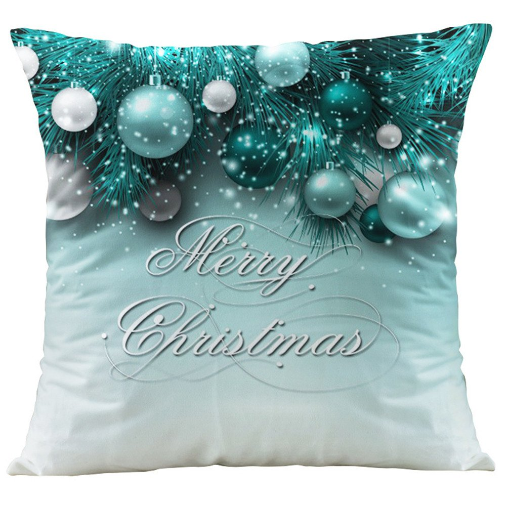 HANGOOD Soft Flannel Throw Pillow Case Cushion Covers Cover Christmas Balls 18 x 18 inches