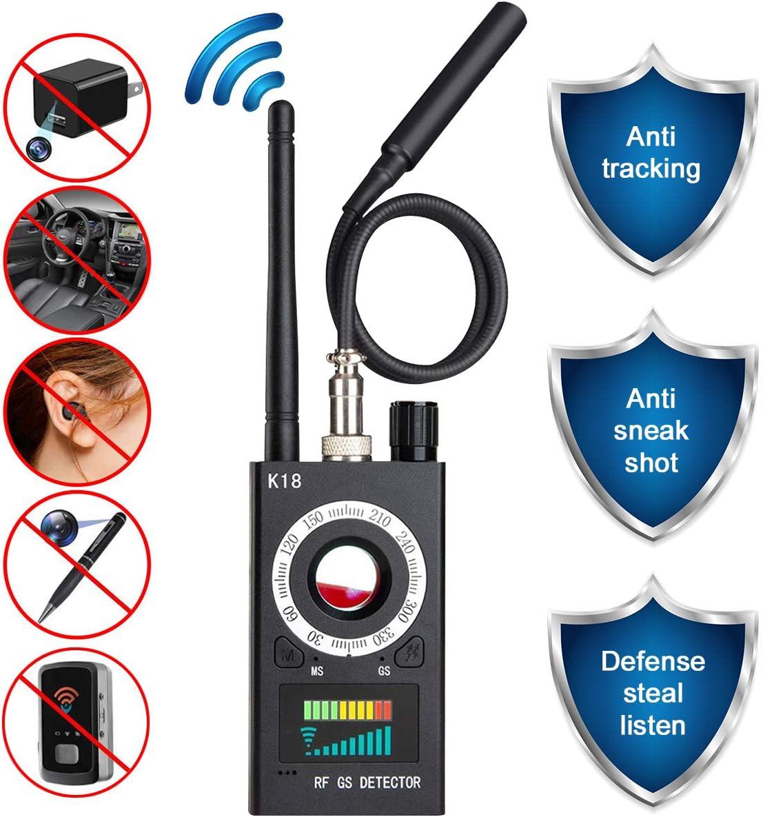 Anti Spy Camera Detector, RF Signal Bug Detector, JONYJ Wireless Signal Pinhole Laser Lens GSM Detector Ultra-high Sensitivity Full-Range Tracker Finder