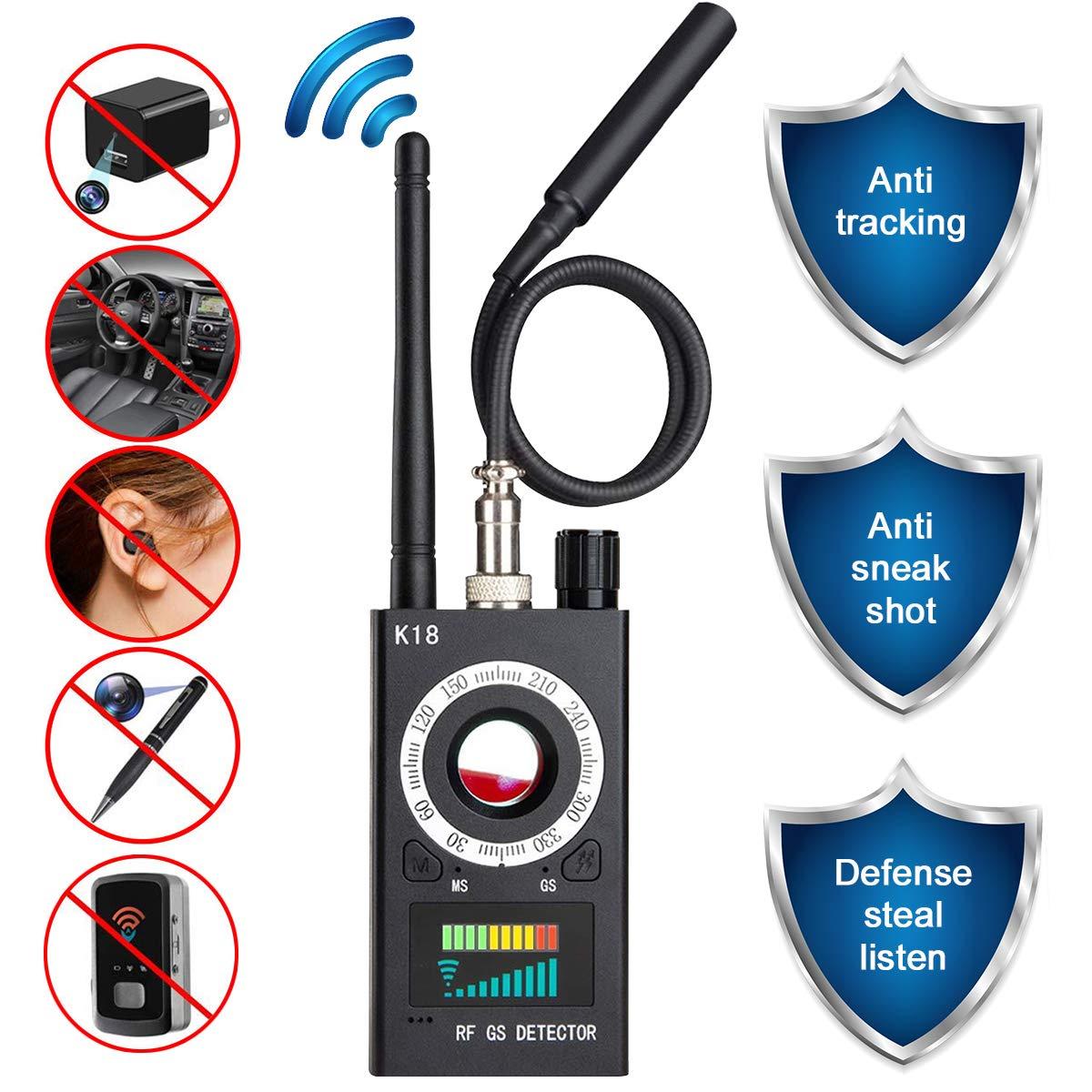 Anti Spy Camera Detector, RF Signal Bug Detector, JONYJ Wireless Signal Pinhole Laser Lens GSM Detector Ultra-high Sensitivity Full-Range Tracker Finder by JONYJ