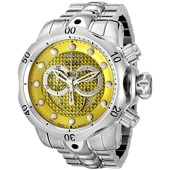 Invicta 6715 reserva Venom colección Cronógrafo Amarillo Dial Acero inoxidable reloj: Amazon.es: Relojes