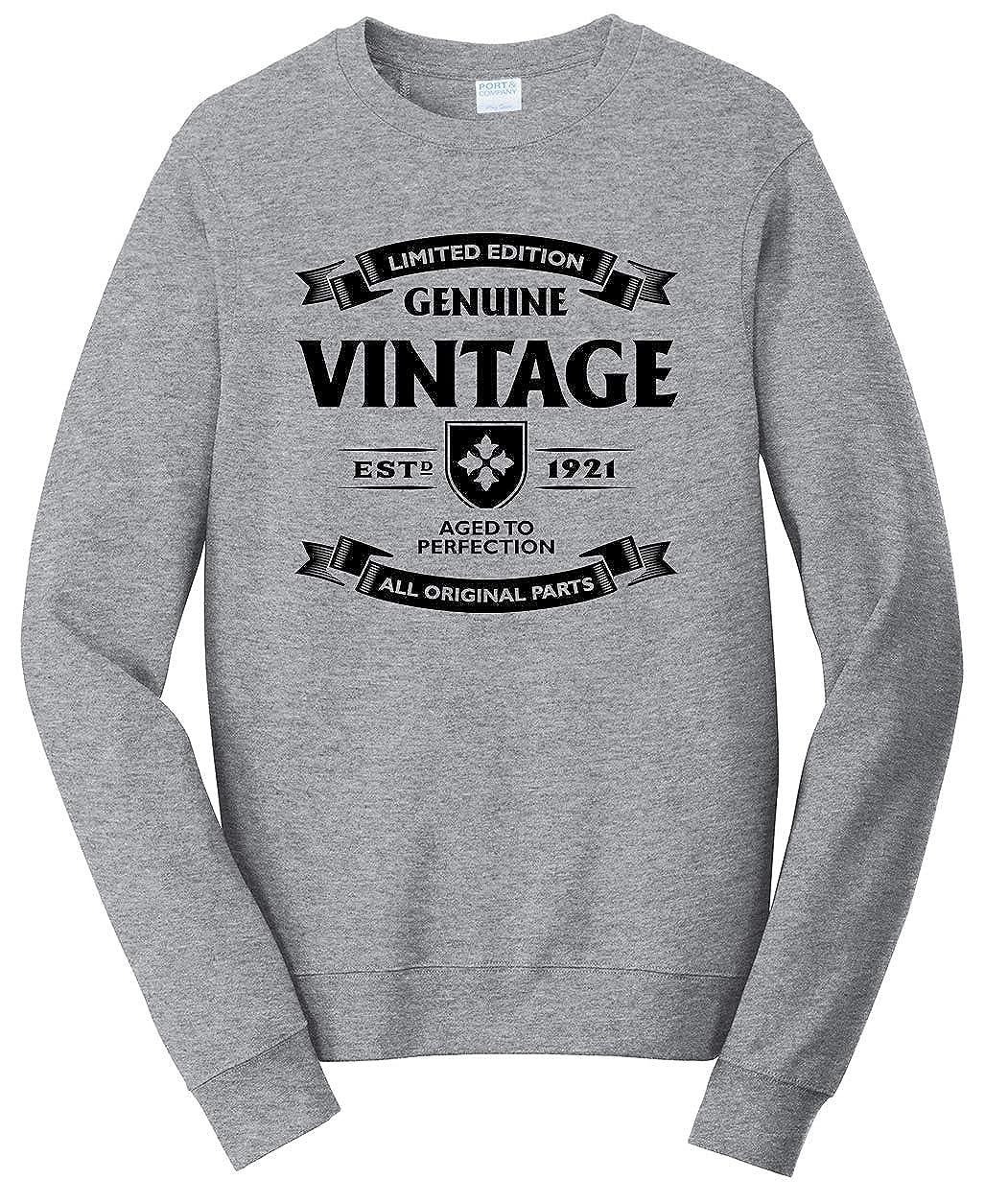 Tenacitee Unisex Aged to Perfection 1921 Sweatshirt