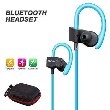 quntis® Bluetooth Auriculares Deporte Auriculares Bluetooth auricular para Andriod Smartphones y Apple como Samsung,
