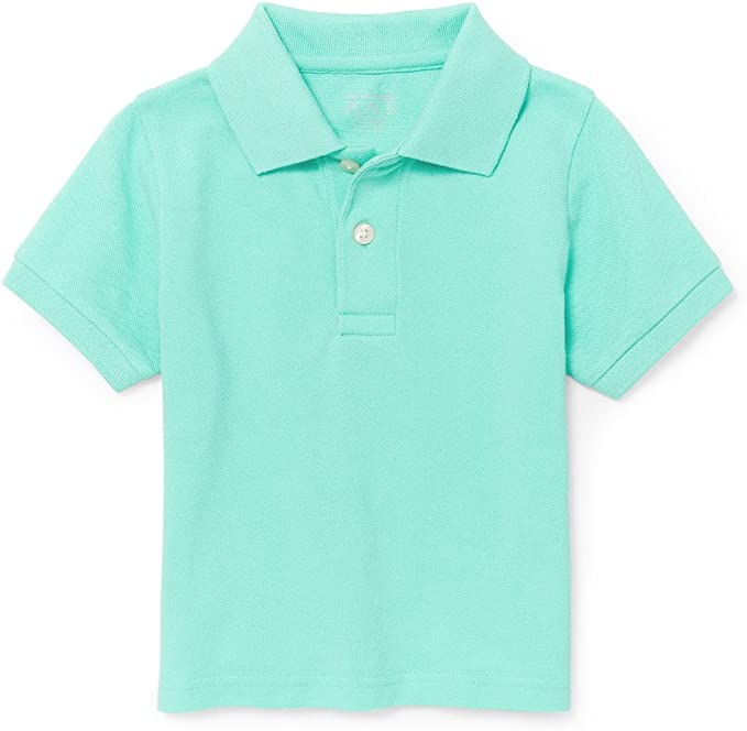 The Childrens Place Boys Short Sleeve Solid Polo