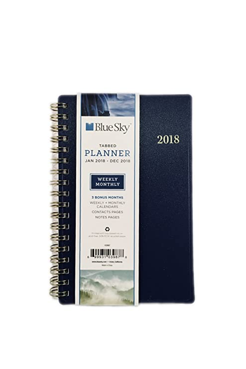 Amazon.com : Blue Sky Jan 2018- Dec 2018 Weekly & Monthly Planner ...