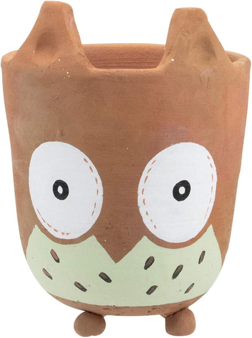 Foreside Home & Garden Owl Foreside Home and Garden Terracotta Animal Shaped Planter