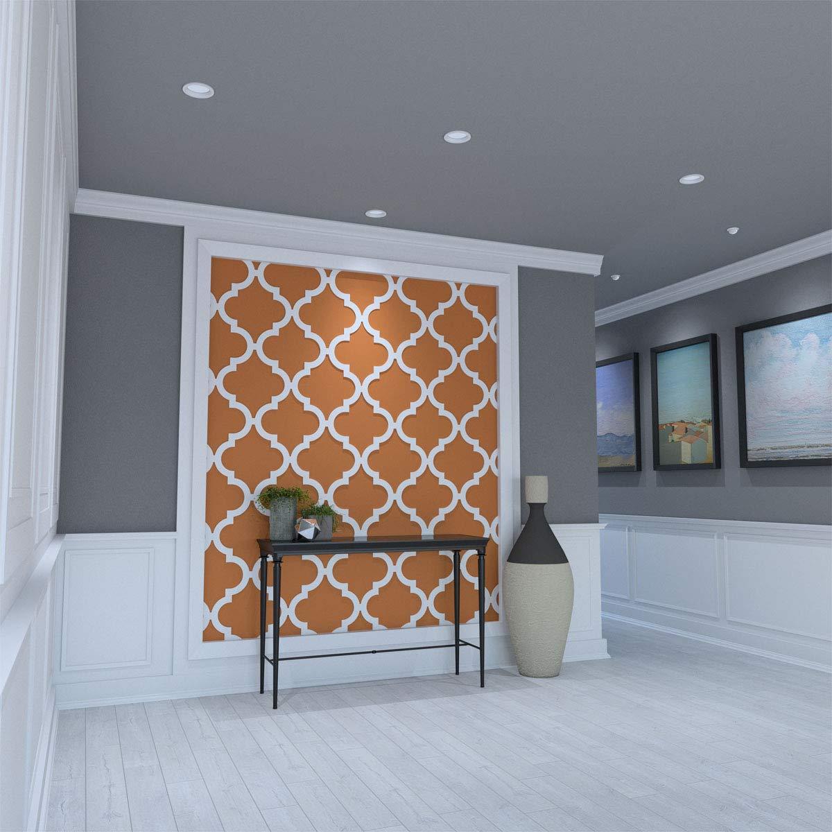 23-3//4W x 23-3//4H Ekena Millwork WALP24X24MRK-CASE-10 Wall Panel White