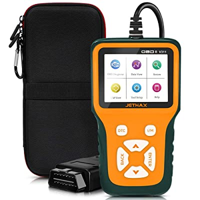 JETHAX Handheld OBD2 Scanner, Car Fault Code Reader Diagnostic Scan Tool Compatible with All Vehicles 1996 and Newer, Check I/M Readiness, 02 Sensor, EVAP Systems: Automotive