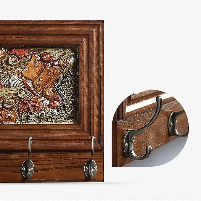 Amazon.com: JF-YMJ - Perchero de madera maciza para colgar ...