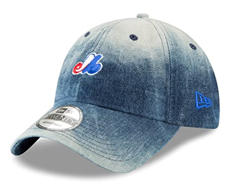 45577d2c3d5 Image Unavailable. Image not available for. Color  New Era Montreal Expos MLB  9Twenty Cooperstown Denim Wash Adjustable Hat
