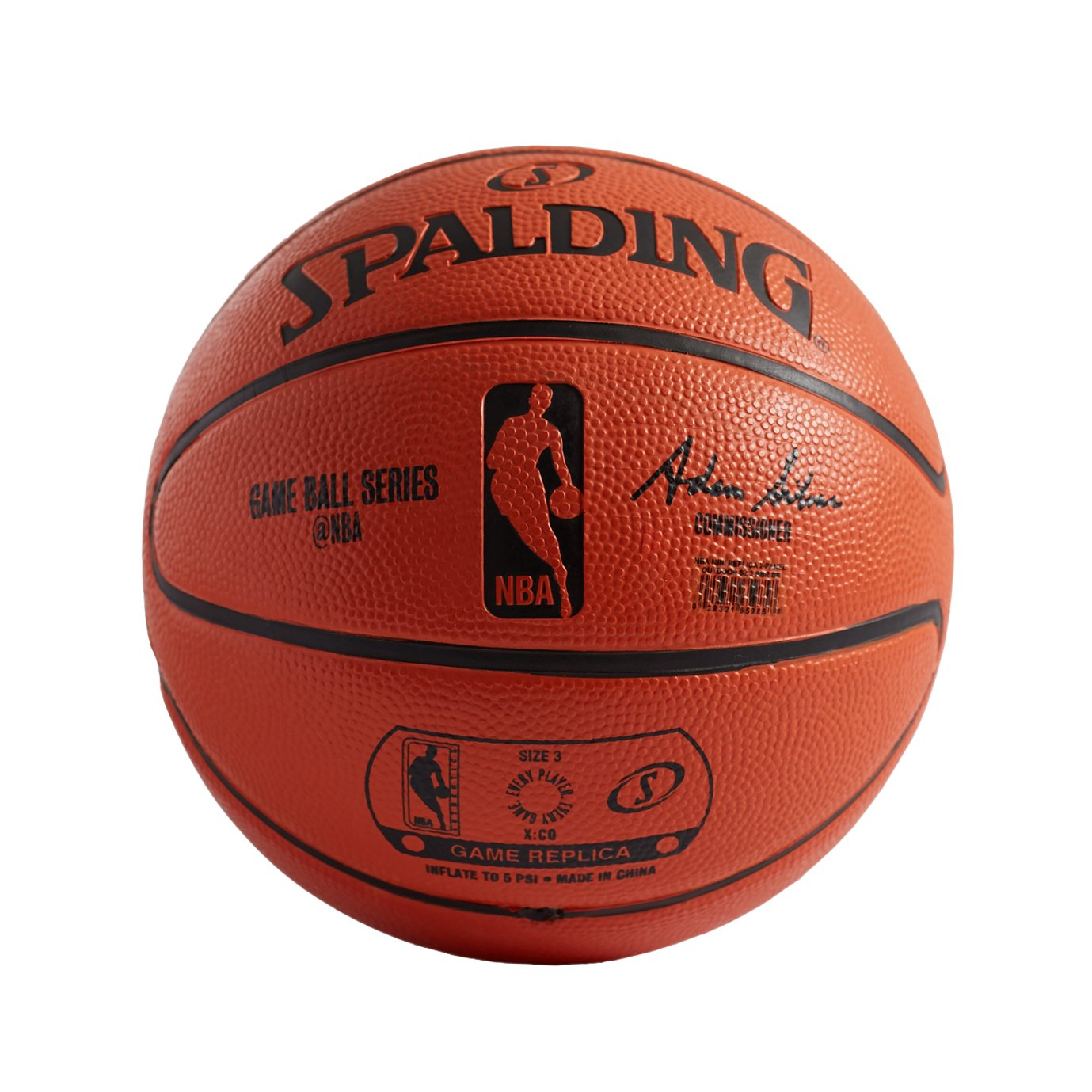 Amazon.com : Spalding NBA Mini 2-Panel Basketball, Orange, Mini ...