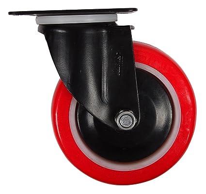 plasto mover muebles 150 mm giratorio placa superior rueda 220 kg capacidad de carga, 4