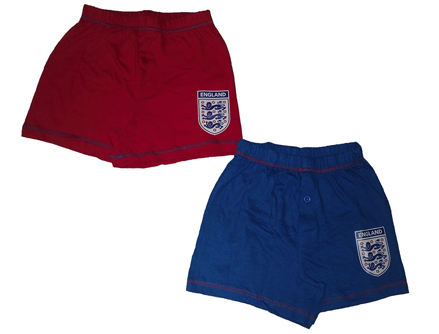 BOYS 2 PACK BOXER SHORTS UNDERWEAR ENGLAND