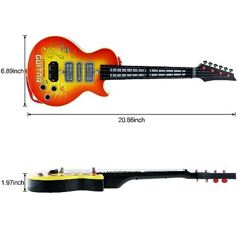 4 cuerdas música eléctrico guitarra, Shayson guitarra eléctrica niños niños bebé Musical instrumentos juguete de regalo para bebé niño (amarillo): ...