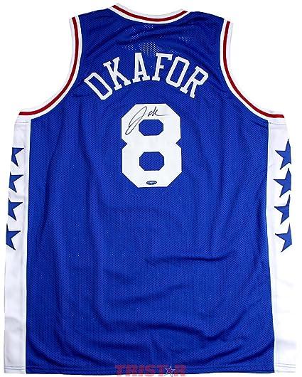 3f77a2c92c21 Jahlil Okafor Signed Autographed Philadelphia 76ers Custom Blue Jersey  TRISTAR COA