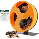 """Exotic Nutrition Silent Runner 12"""" Regular   Wheel + Cage Attachment   Sugar Gliders, Hamsters, Rats"""