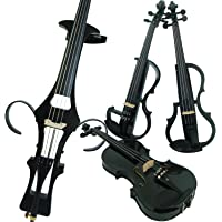 Aliyes Wood Electric Violin Full Size 4/4 Intermediate-A Electric Silent Carbon Fiber Violin Kit With Case,Bow,Rosin…