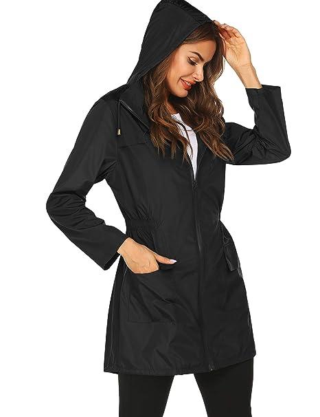 top style boy 60% clearance Doreyi Women rain Coats Waterproof Lightweight Summer Running Active rain  Jacket Long