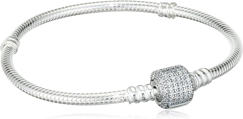PANDORA Bracelet 590723CZ-18 Women Silver Closing Moments Signature