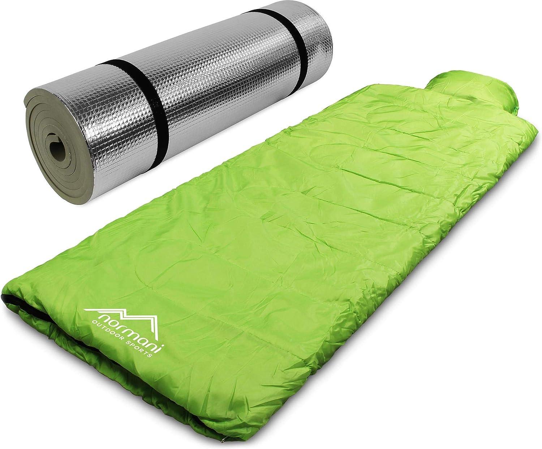 normani Pilotenschlafsack mit Kissen und Aluminium Isomatte