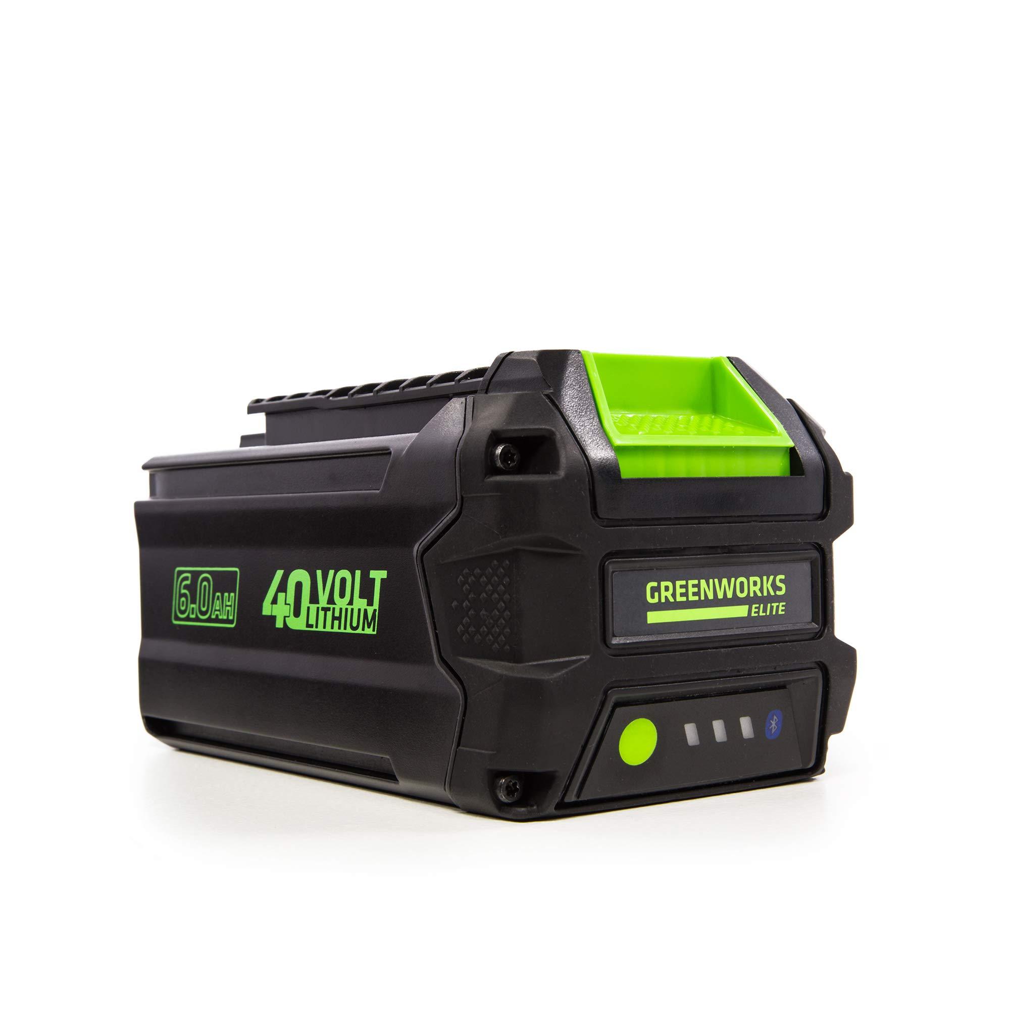 Greenworks 40V 6AH Smart Lithium-Ion USB Battery, 6.0 Ah L-600