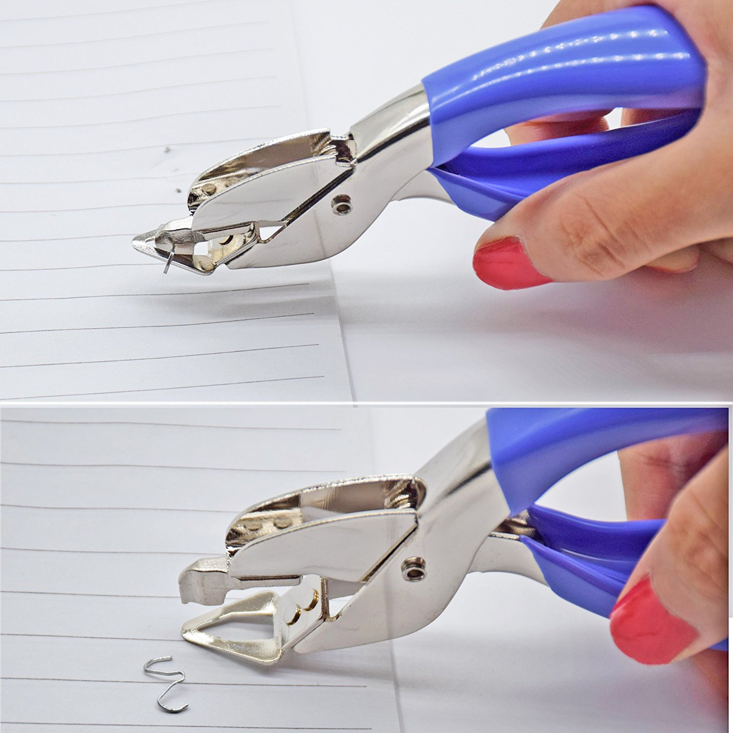 YUEKUI Staple Remover Heavy Duty Staple Removers Tool for Office,Easy to Use (2 pcs Blue) by YUEKUI (Image #5)