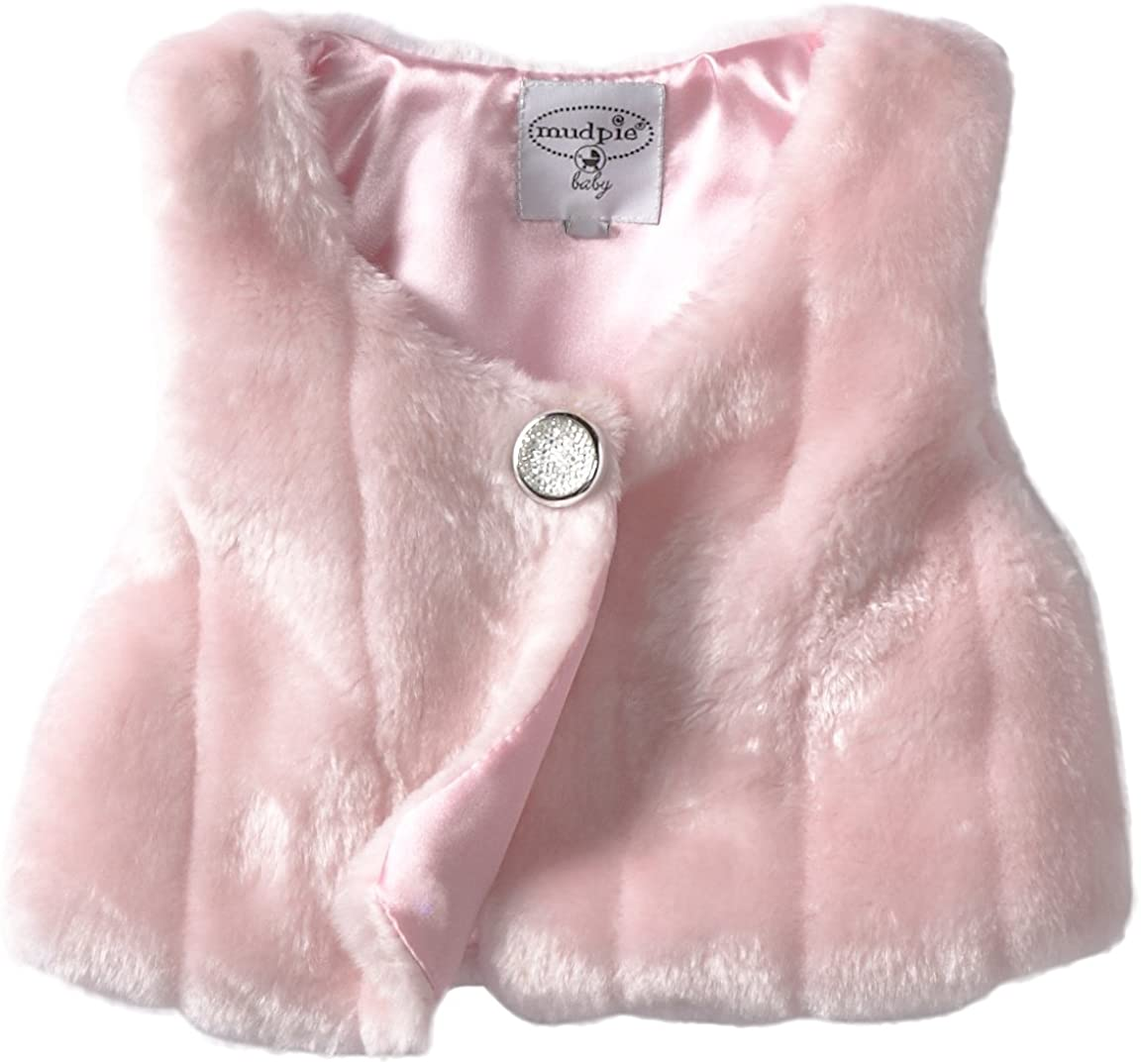Mud Pie Pink Fur Outerwear Infant Vest